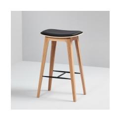 Nordic barstol med læder - Sackit