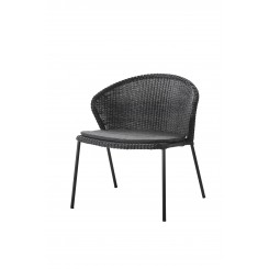 Cane-Line - Lean loungestol, stabelbar (5413) Black
