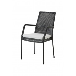 Cane-Line - Newport stol, m/armlæn, stabelbar (5433) Black